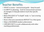 teacher benefits