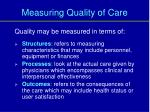 measuring quality of care