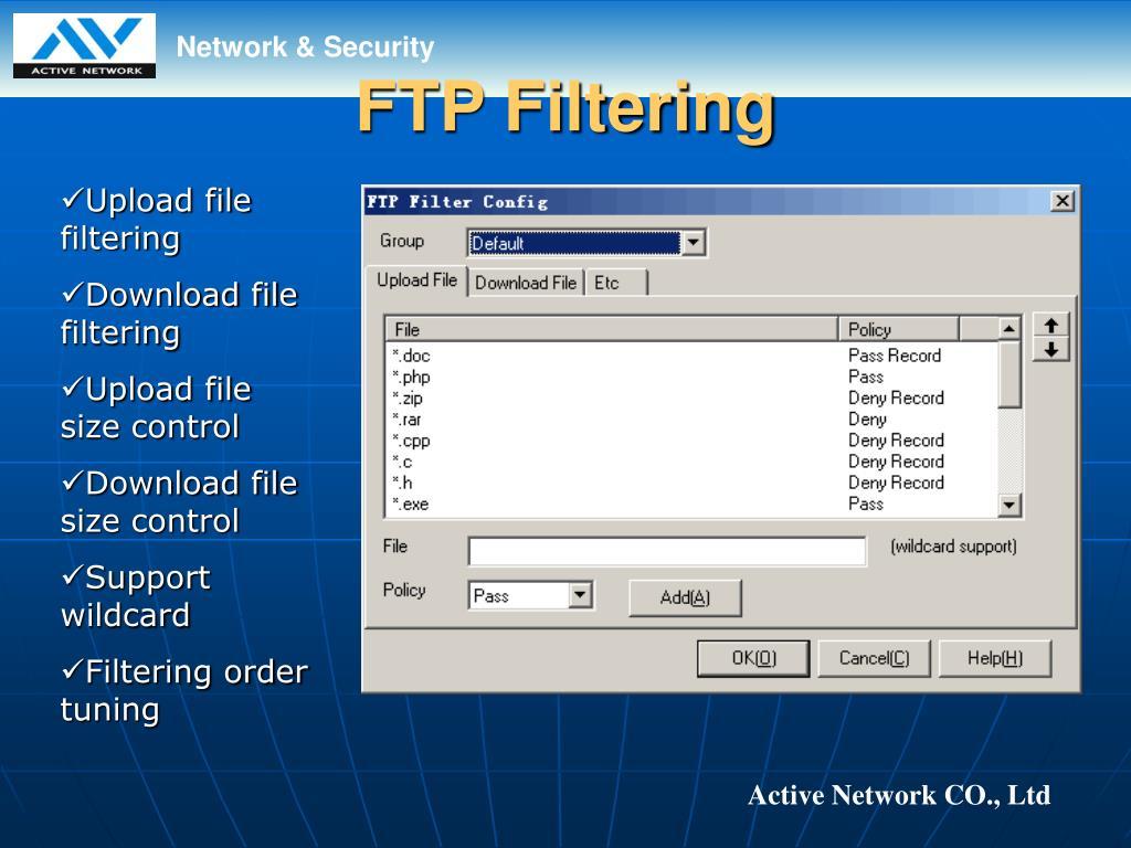 FTP Filtering