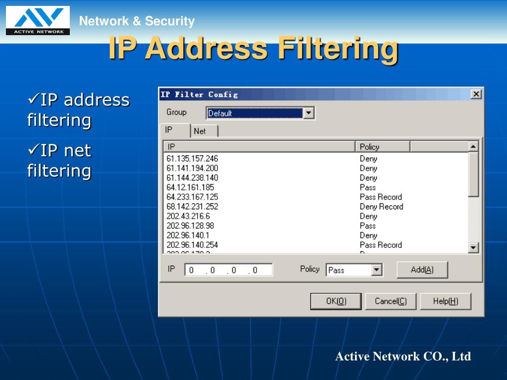 IP Address Filtering