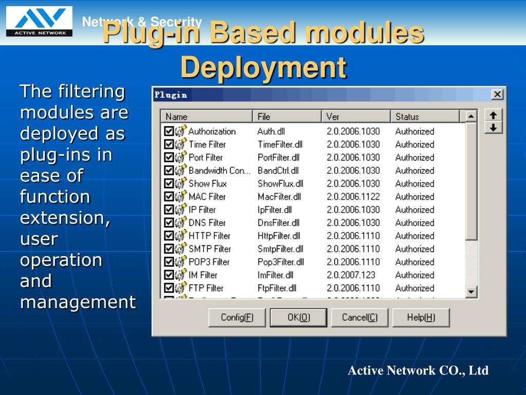 Plug-in Based modules Deployment