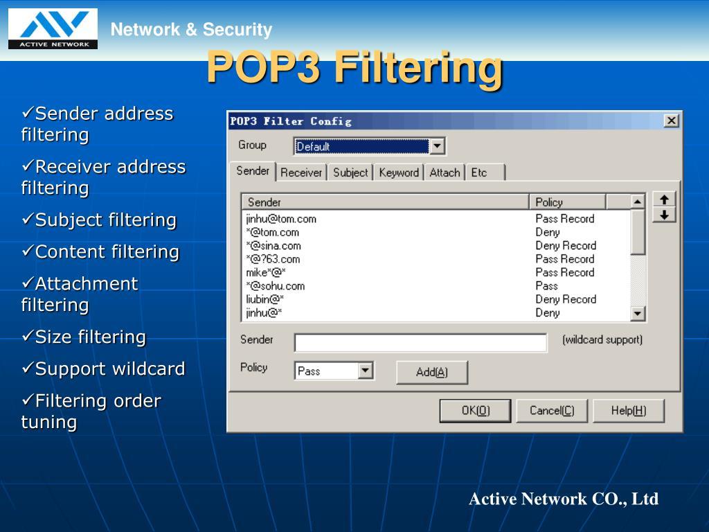 POP3 Filtering