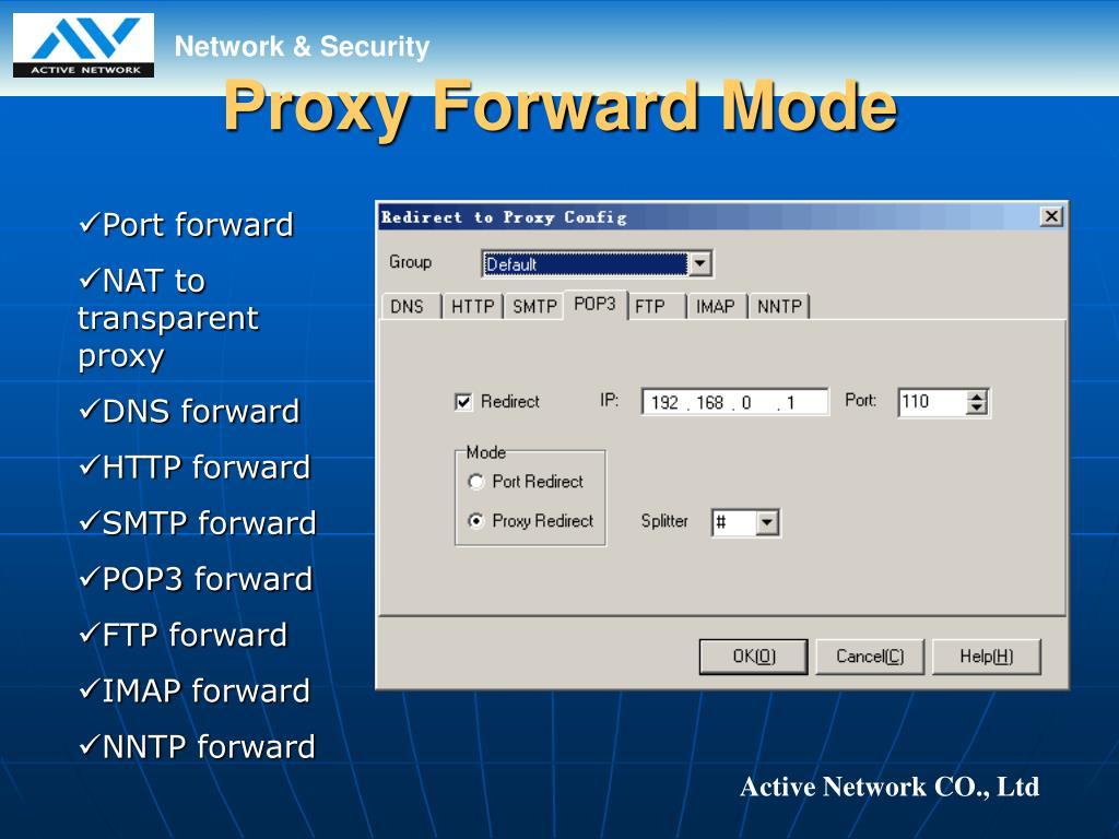 Proxy Forward Mode