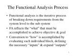 the functional analysis process