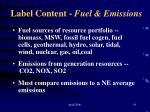label content fuel emissions61