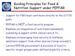guiding principles for food nutrition support under pepfar