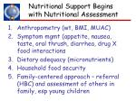 nutritional support begins with nutritional assessment