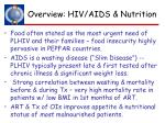 overview hiv aids nutrition