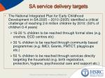 sa service delivery targets