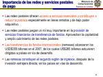 importancia de las redes y servicios postales de pago