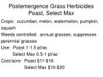 postemergence grass herbicides poast select max