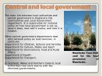 central and local government