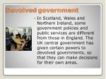 devolved government