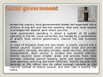 l ocal government