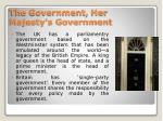 the government her majesty s government