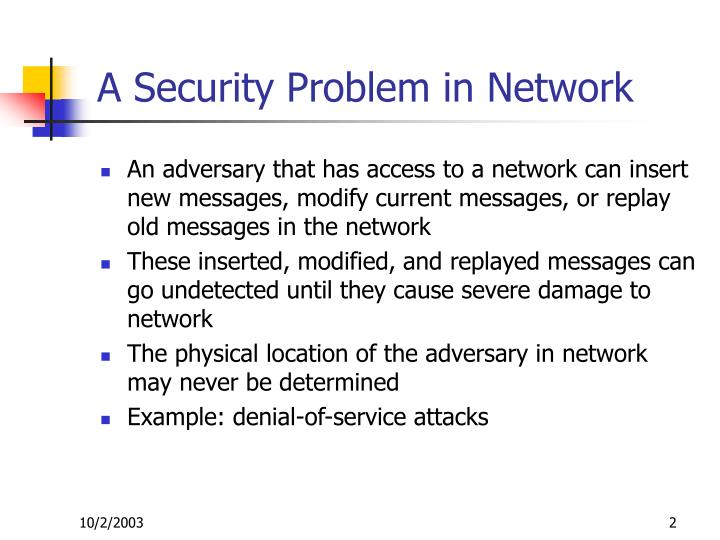 A security problem in network