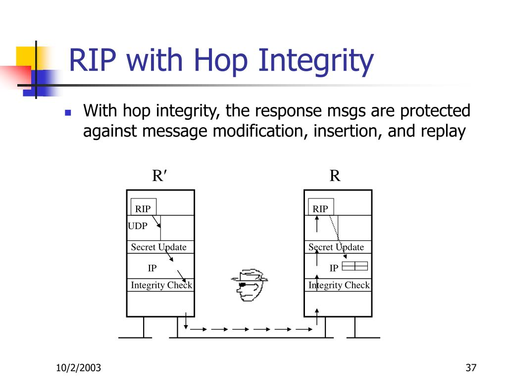 RIP with Hop Integrity