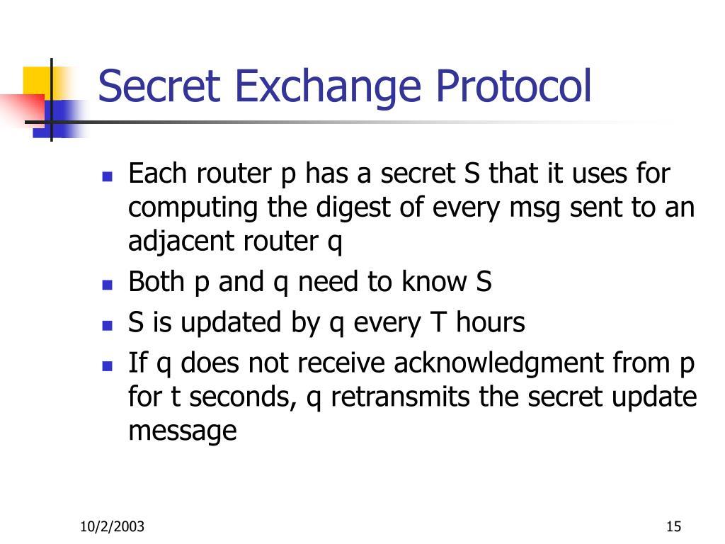 Secret Exchange Protocol