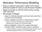 motivation performance modelling