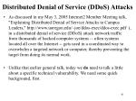 distributed denial of service ddos attacks