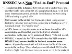 dnssec as a non end to end protocol