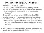 dnssec by the rfc numbers