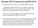 dynamic dns commercial and rfc2135
