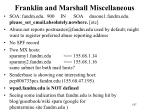 franklin and marshall miscellaneous