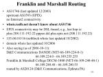 franklin and marshall routing