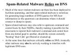 spam related malware relies on dns
