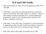 tcp and udp traffic