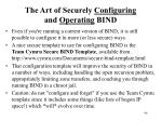 the art of securely configuring and operating bind