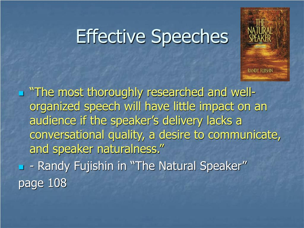 effective speeches l.