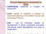 current approach to investment in epas