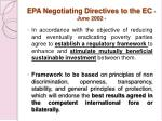 epa negotiating directives to the ec june 2002