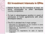eu investment interests in epas