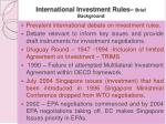 international investment rules brief background