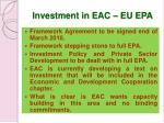 investment in eac eu epa