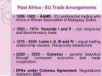 past africa eu trade arrangements