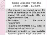 some lessons from the cariforum eu epa