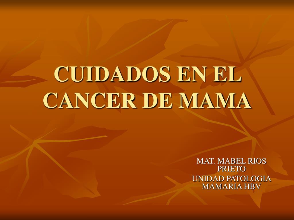 cuidados en el cancer de mama l.
