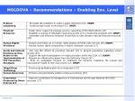 moldova recommendations enabling env level