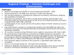 regional findings common challenges and achievements16