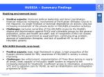 russia summary findings