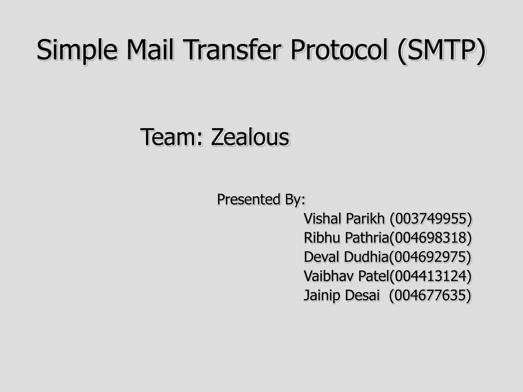 simple mail transfer protocol smtp l.