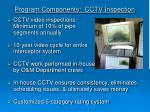 program components cctv inspection