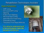 rehabilitation technologies available