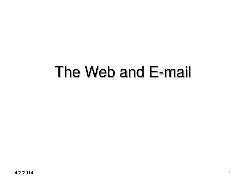 the web and e mail l.