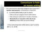 comunicare la fede un nuovo setting27