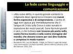 la fede come linguaggio e comunicazione